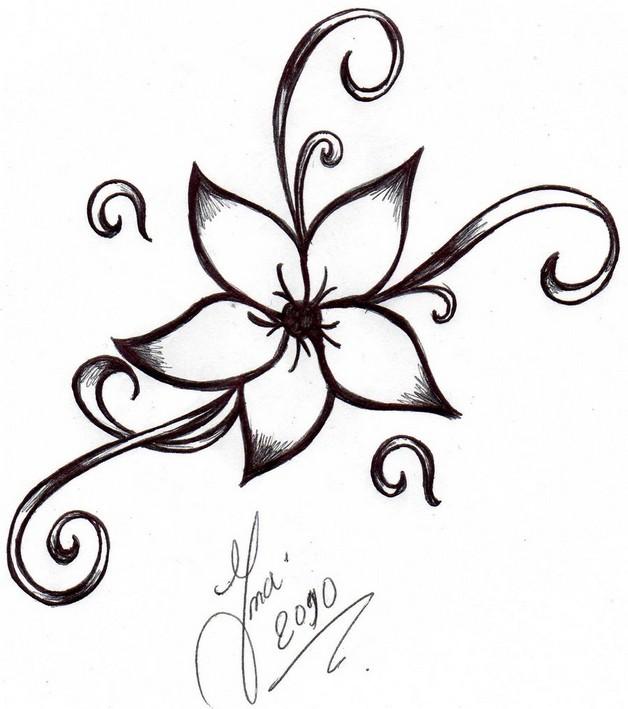 Как рисовать цветы для тату
