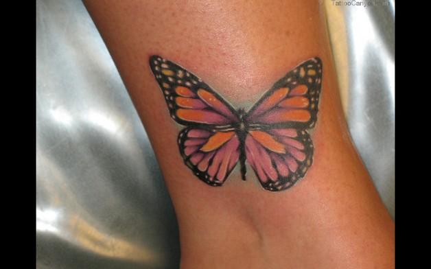 Тату для девушек бабочки