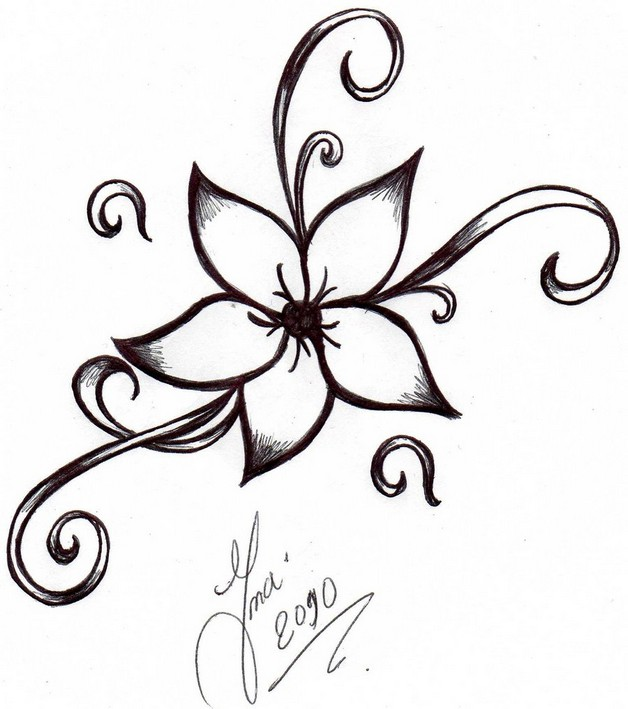 Рисунки цветы тату