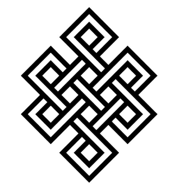 Buddhist endless knot.