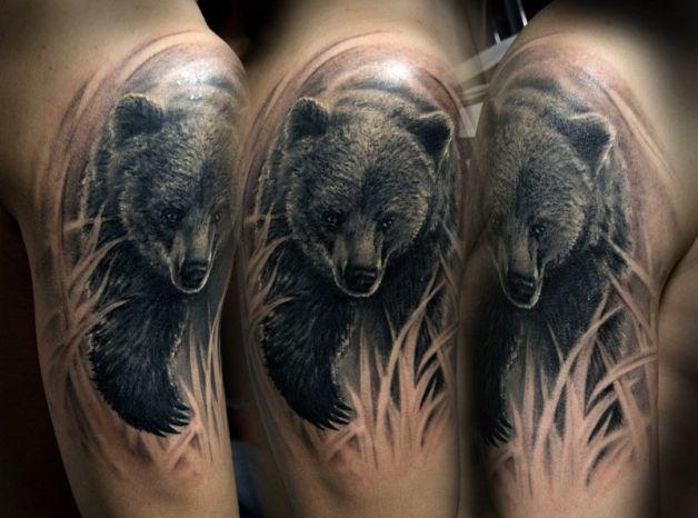 Медведь - 1 в тату эскизах Рисуем на заказ Фото