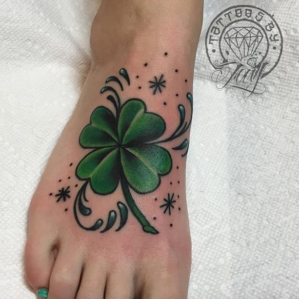 Stars clover tattoo design for Clover tattoo meaning