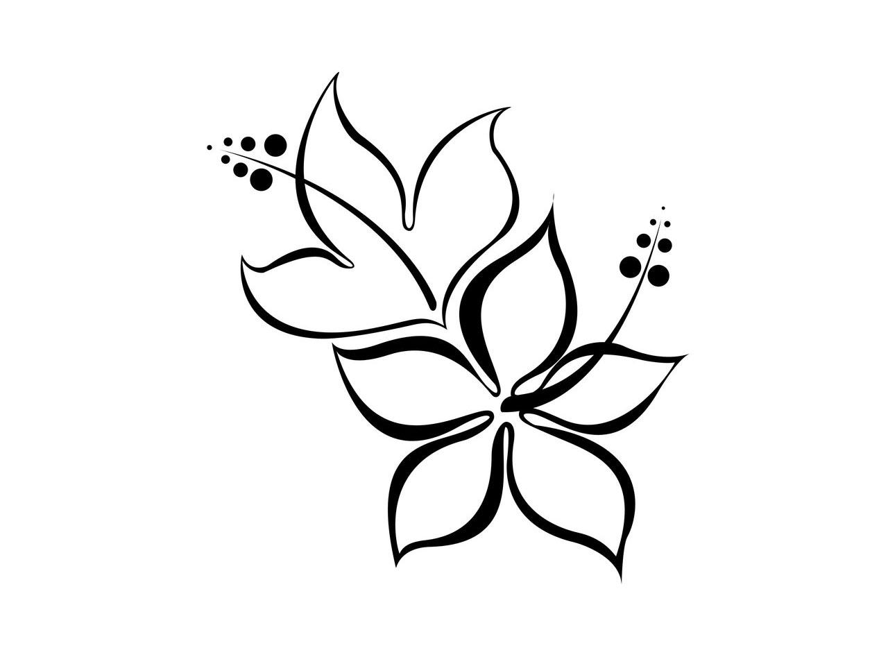 Black Tinkerbell And Little Stars Tattoo Designs