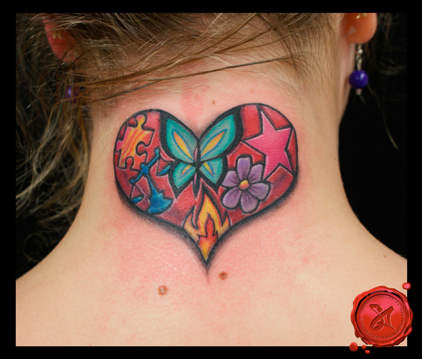 Butterfly star tattoo designs -  Butterfly Stars Tattoo On Back Shoulder