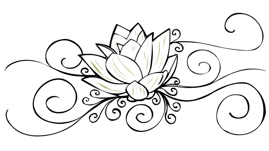 Chrysanthemum Flowers Dragonflies Tattoo Design