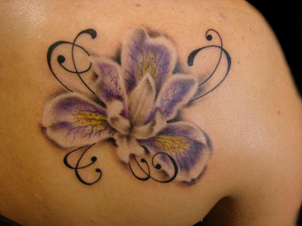 19ec37fff Elegant flowers sleeve tattoos