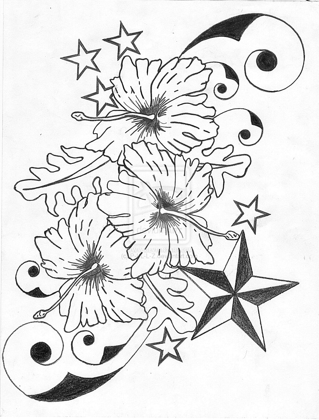35 Black & Grey and Colorful Hibiscus Tattoos