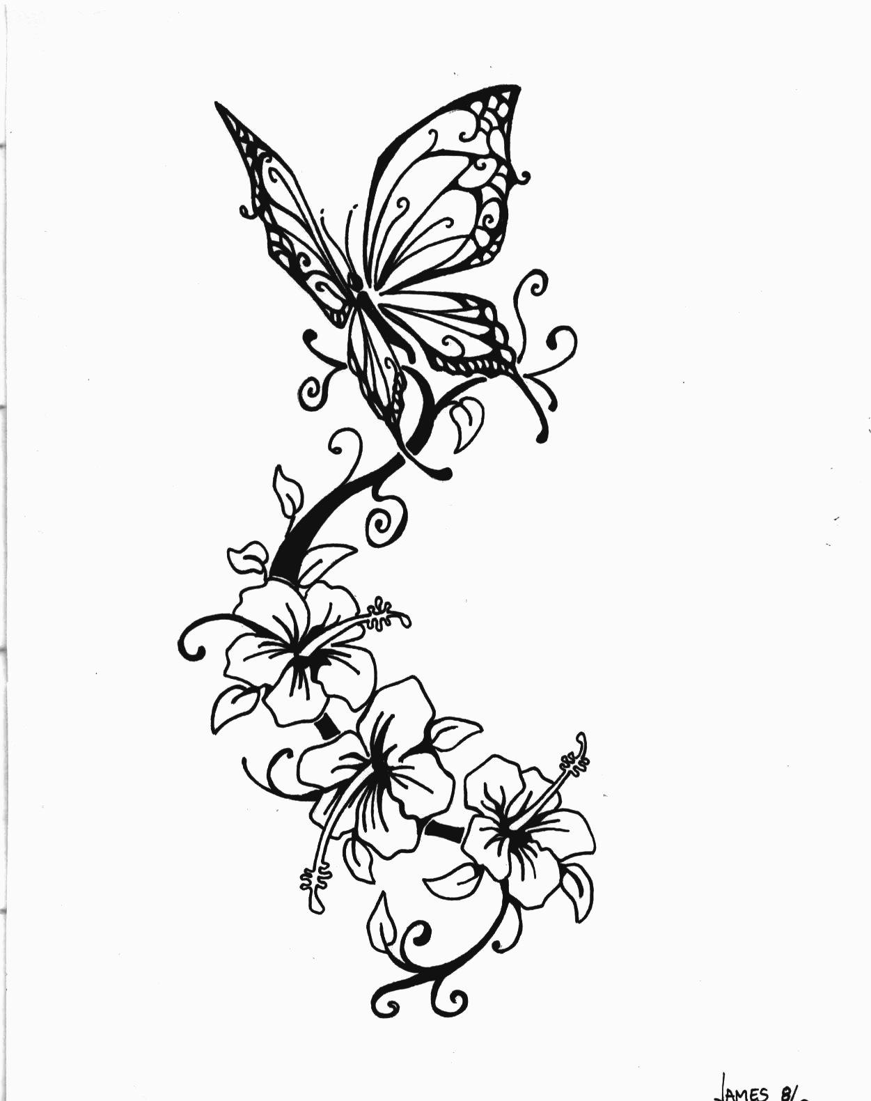 Hibiscus flowers tattoo designs on side back izmirmasajfo