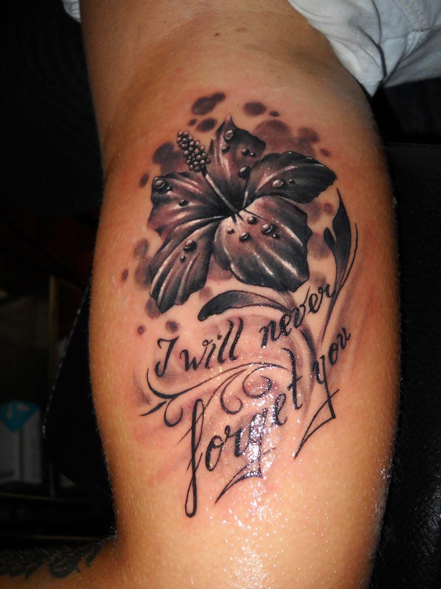 Hibiscus Flowers Tattoo On Rib Side