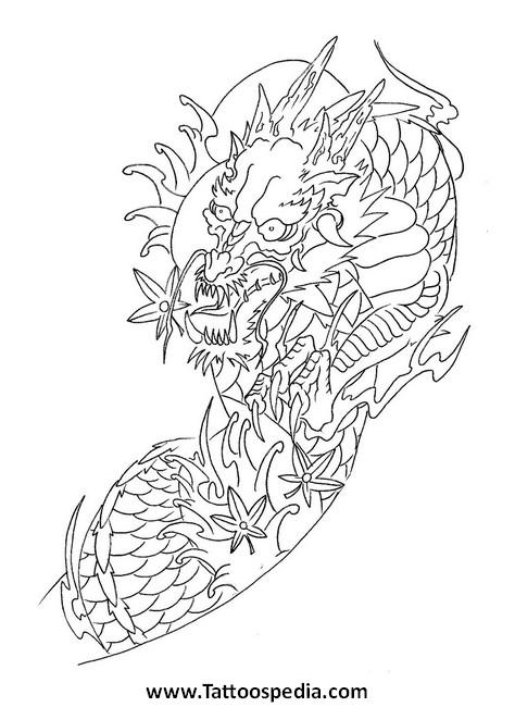 Japanese Flower Tattoo Stencils
