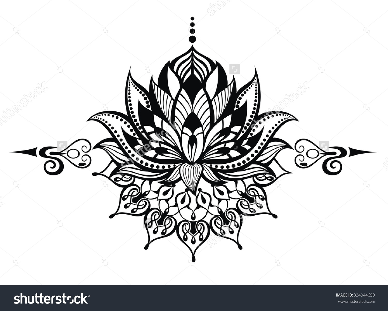Sun and moon tribal drawing vector tribal tattoo set sun - Ying Yang Koi Fish Lotus Flowers Tattoos On Side Back