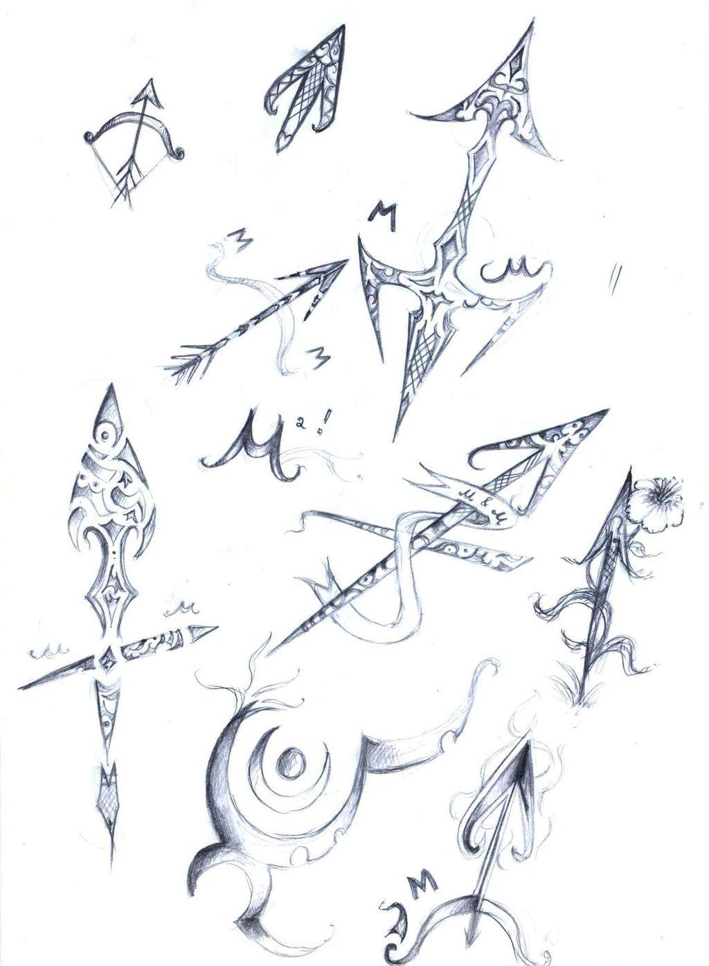 stars and tribal female sagittarius tattoo designs. Black Bedroom Furniture Sets. Home Design Ideas