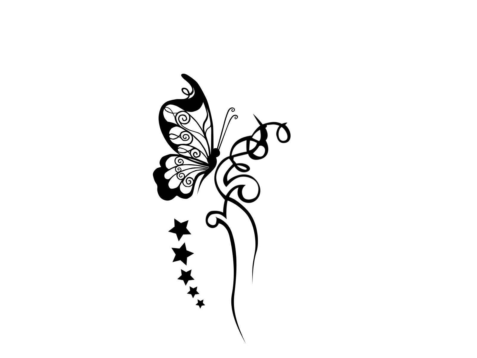 stars clover tattoo design. Black Bedroom Furniture Sets. Home Design Ideas