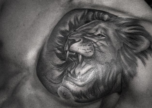 feminine lion tattoo designs. Black Bedroom Furniture Sets. Home Design Ideas