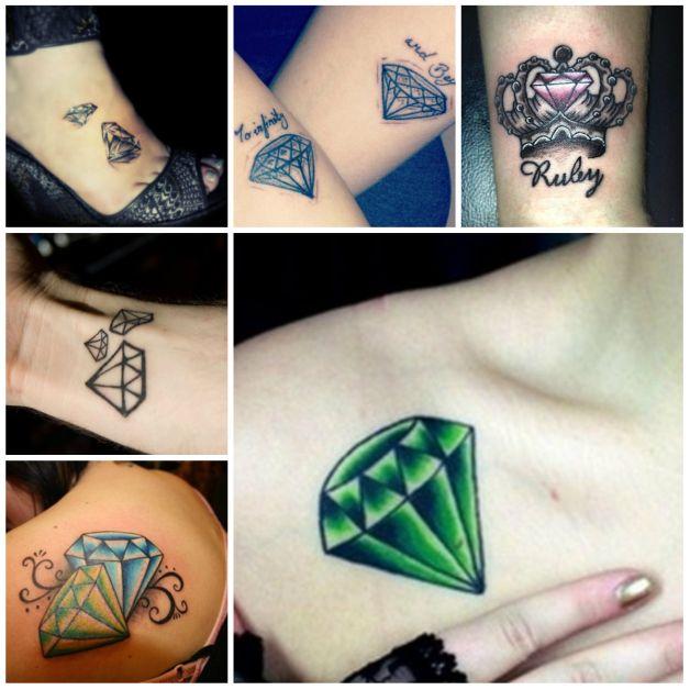 3d Pink Diamond Tattoo Design Photo 1 All Tattoos For Men
