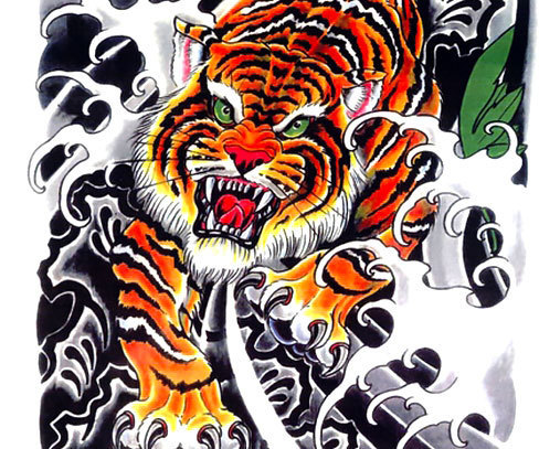 Awesome oriental tiger design.