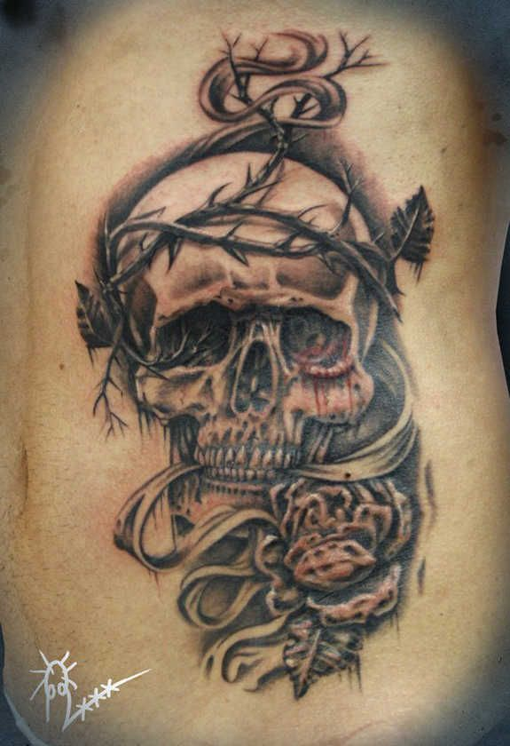 Crazy Skull Tattoos 119 Badass Crazy Skull Tattoos And