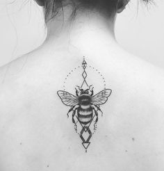 Cute Buzzing Bee Tattoo Design. This cute buzzing bee tattoo design is for couples. You can both can have a pair of such complimentary tattoos to show your love