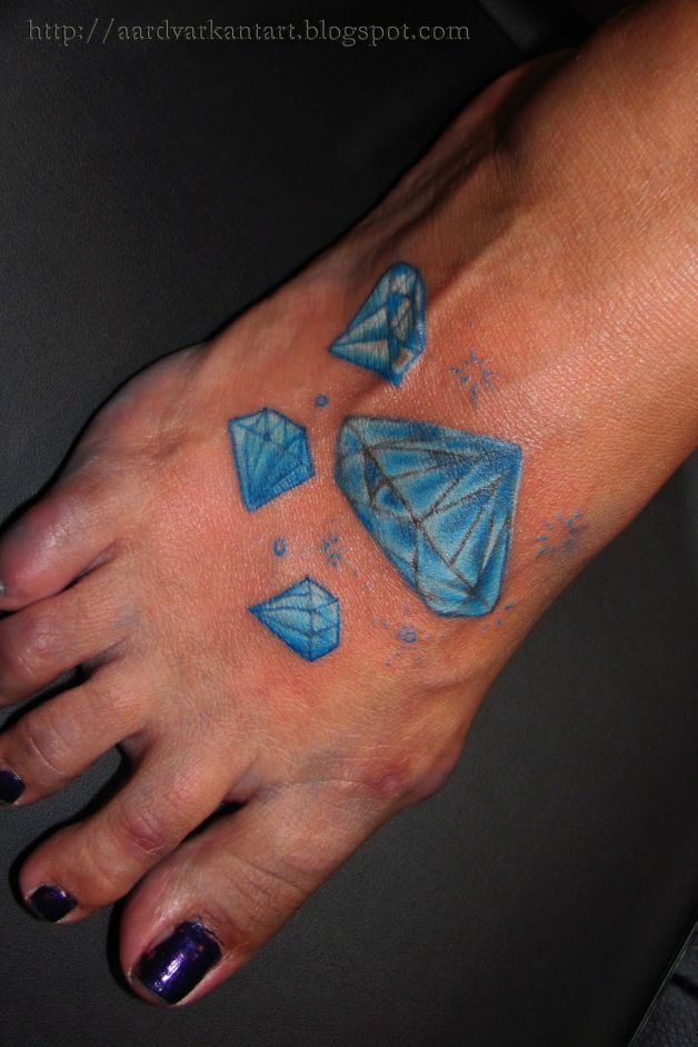 Diamond foot tattoo pictures for All tattoos pictures
