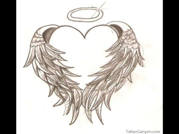 diamond n angel wings tattoo sample photo 1 all