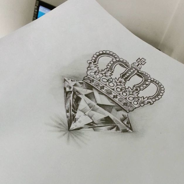 Diamond N Crown Tattoo Designs Photo 1 All Tattoos For Men