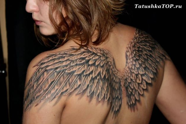 Eagle Wings Tattoo On Shoulders Of Girls