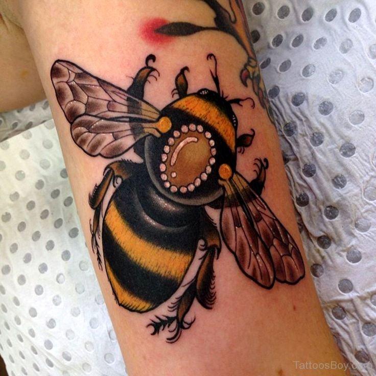 Elegant Bee Tattoo