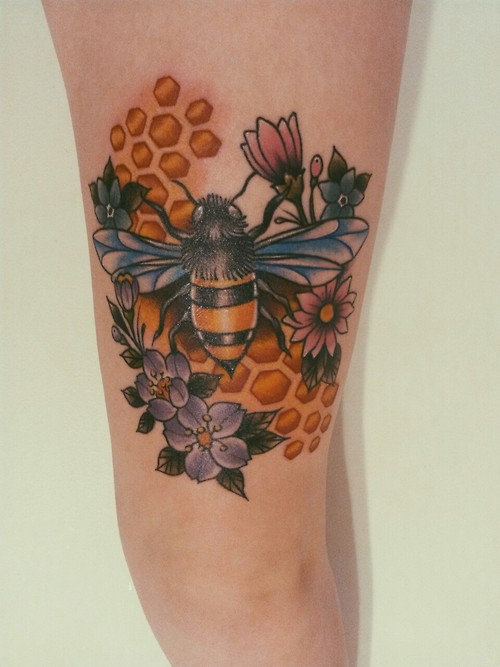 Honey bee done by Misty Minor at Artistic