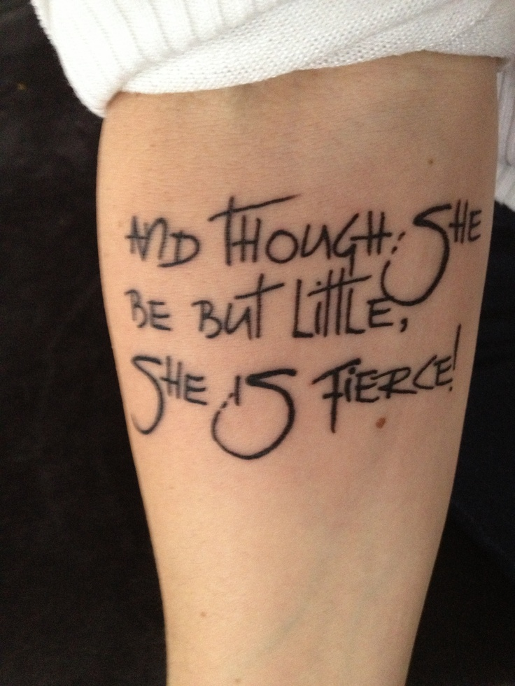 Literary Tattoo On Arm - Nice font