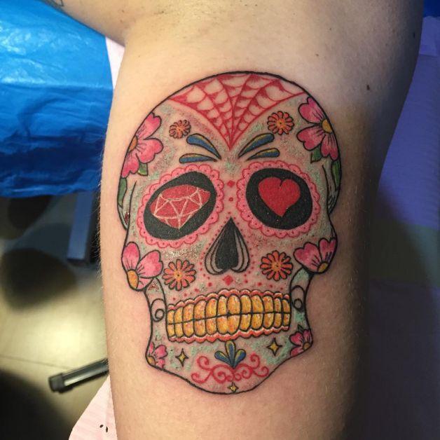 mexican sugar skull tattoo designs on feet. Black Bedroom Furniture Sets. Home Design Ideas