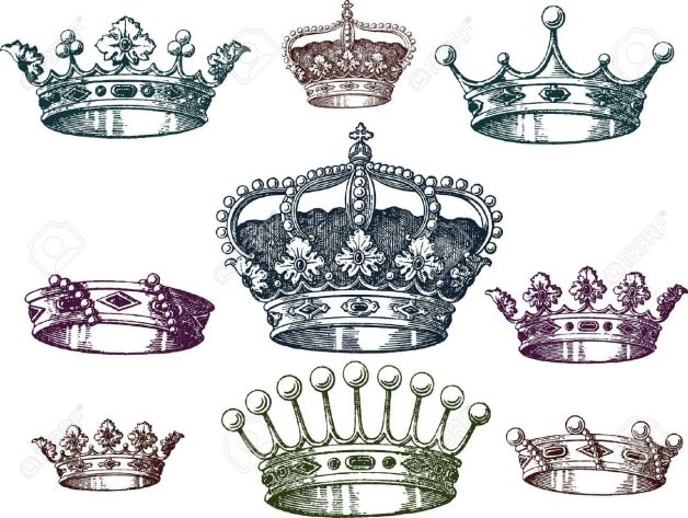 Queen And King Crown Tattoo Designs
