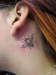 Swallow Tattoo Behind Ear Small Bee Tattoo Behind Ear