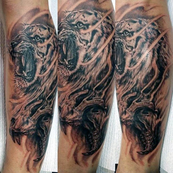 Tiger Tattoos Young Girls Boys Parryz Dragon Tattoo Sleeve