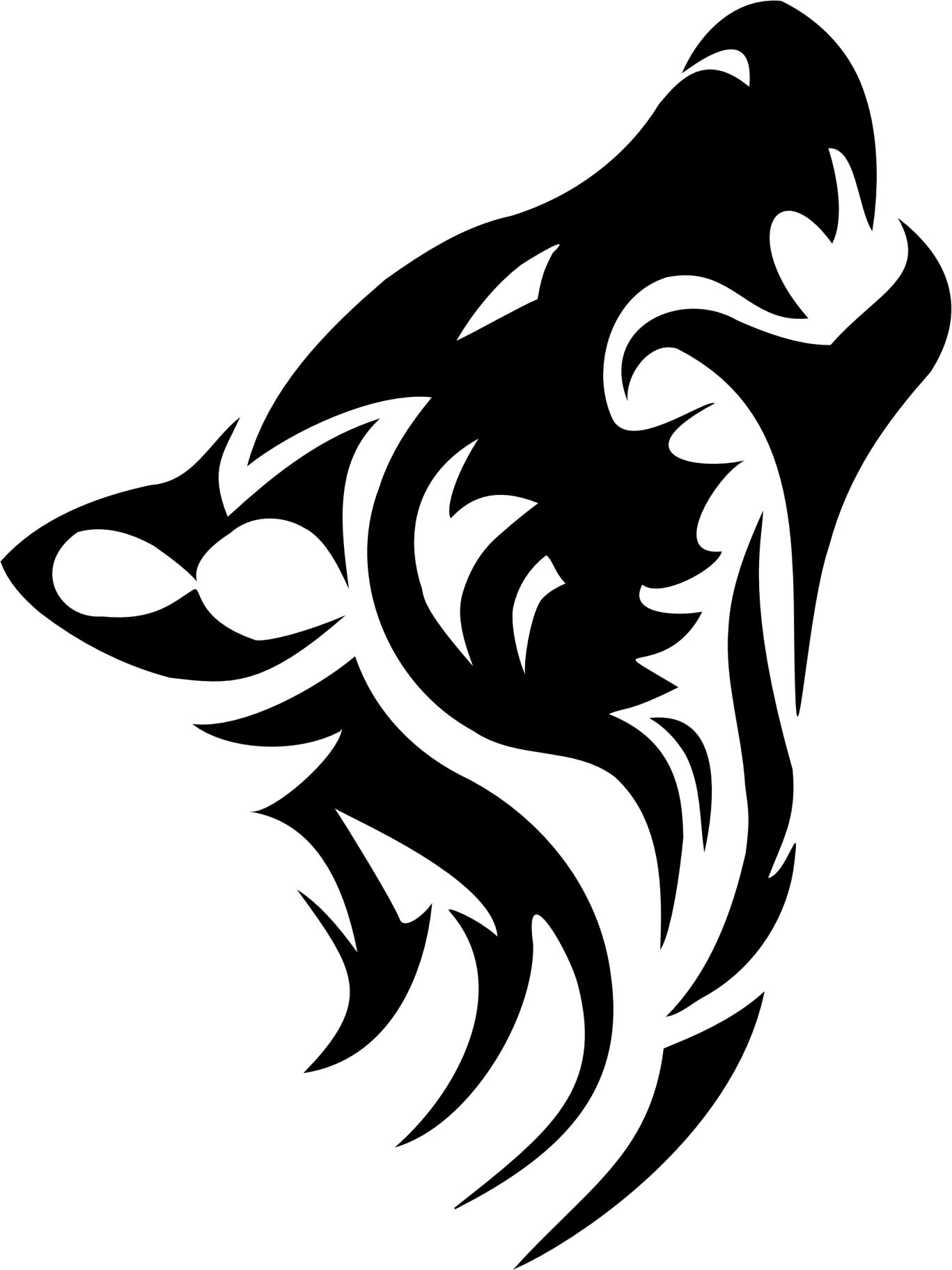 Tribal Outline Tattoo Stencil