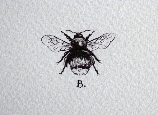 honey bee tattoo - sans the letter 'B'