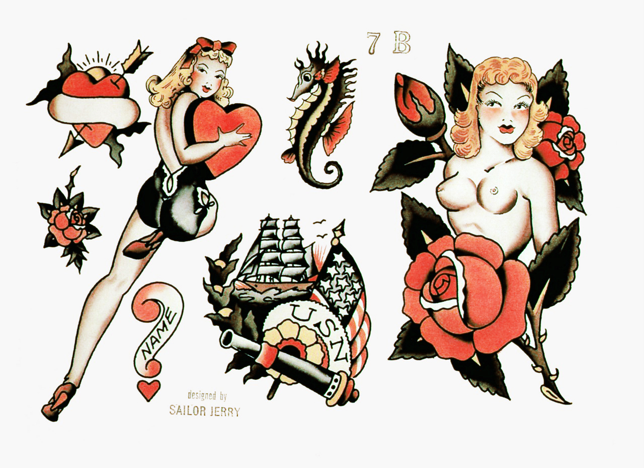 Sailor Jerry Pin Up Portrait Tattoo All Tattoos For Men