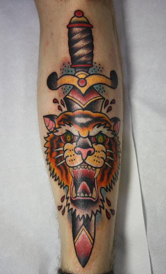 tiger and dagger tattoo