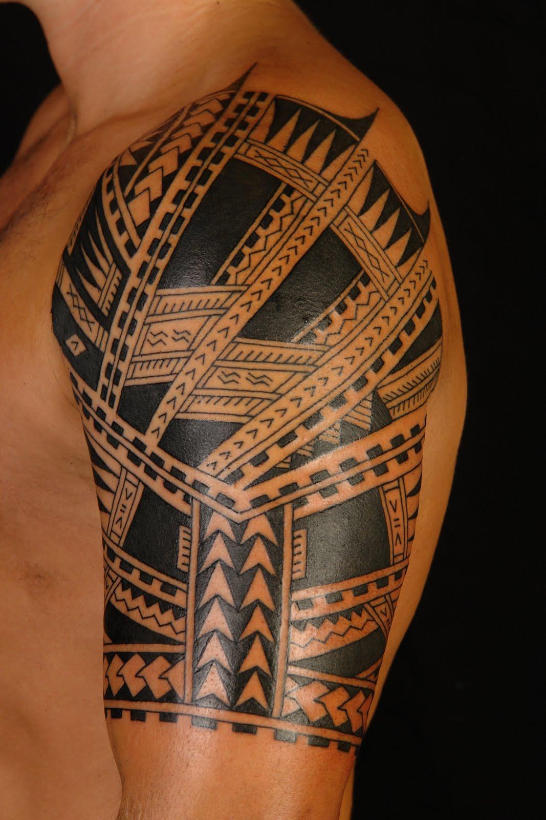 Maori Biceps Tattoo For Men