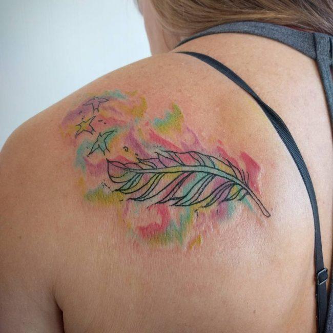 feminine tattoo on shoulder for girls. Black Bedroom Furniture Sets. Home Design Ideas