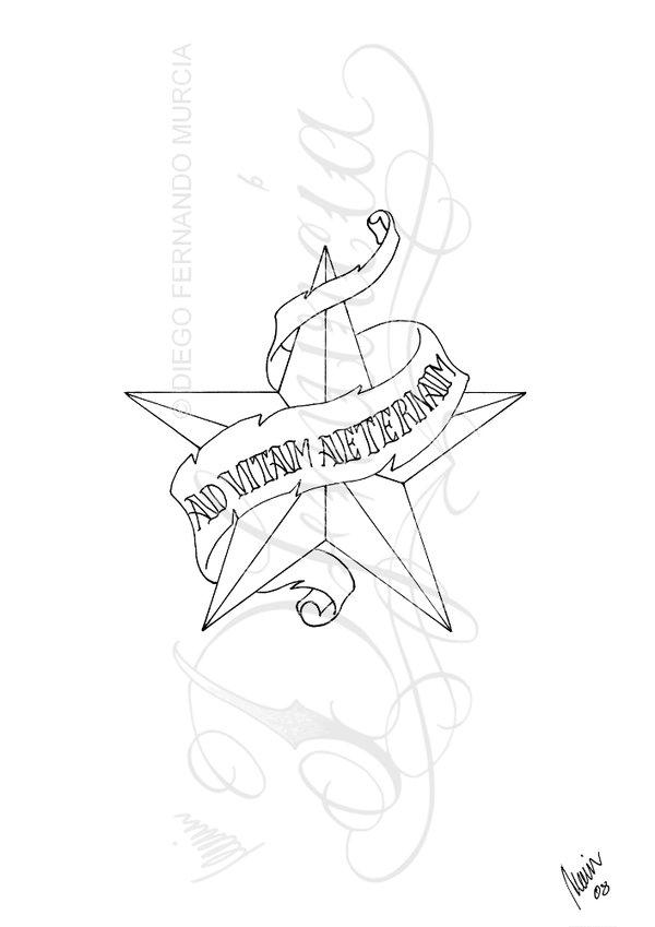 Star Banner Tattoo Design All Tattoos For Men