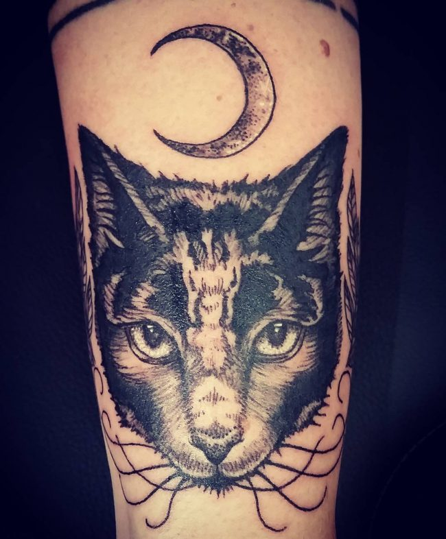 black cat tattoo5