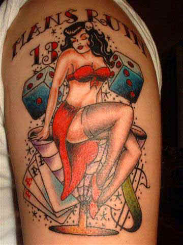 Below is an amazing picture gallery which has pin up tattoo ideas for you to look over and possibly customize them with your own personal touch.
