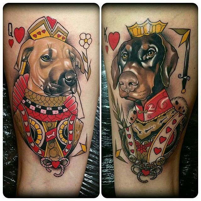 King & Queen Dog tattoos