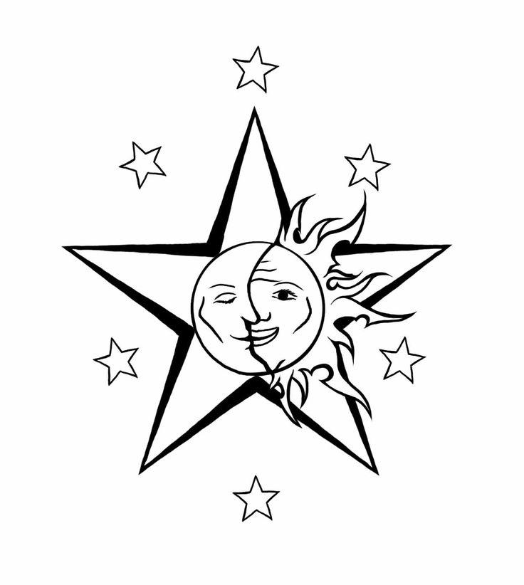 Moon And Stars Tattoos Designs 3