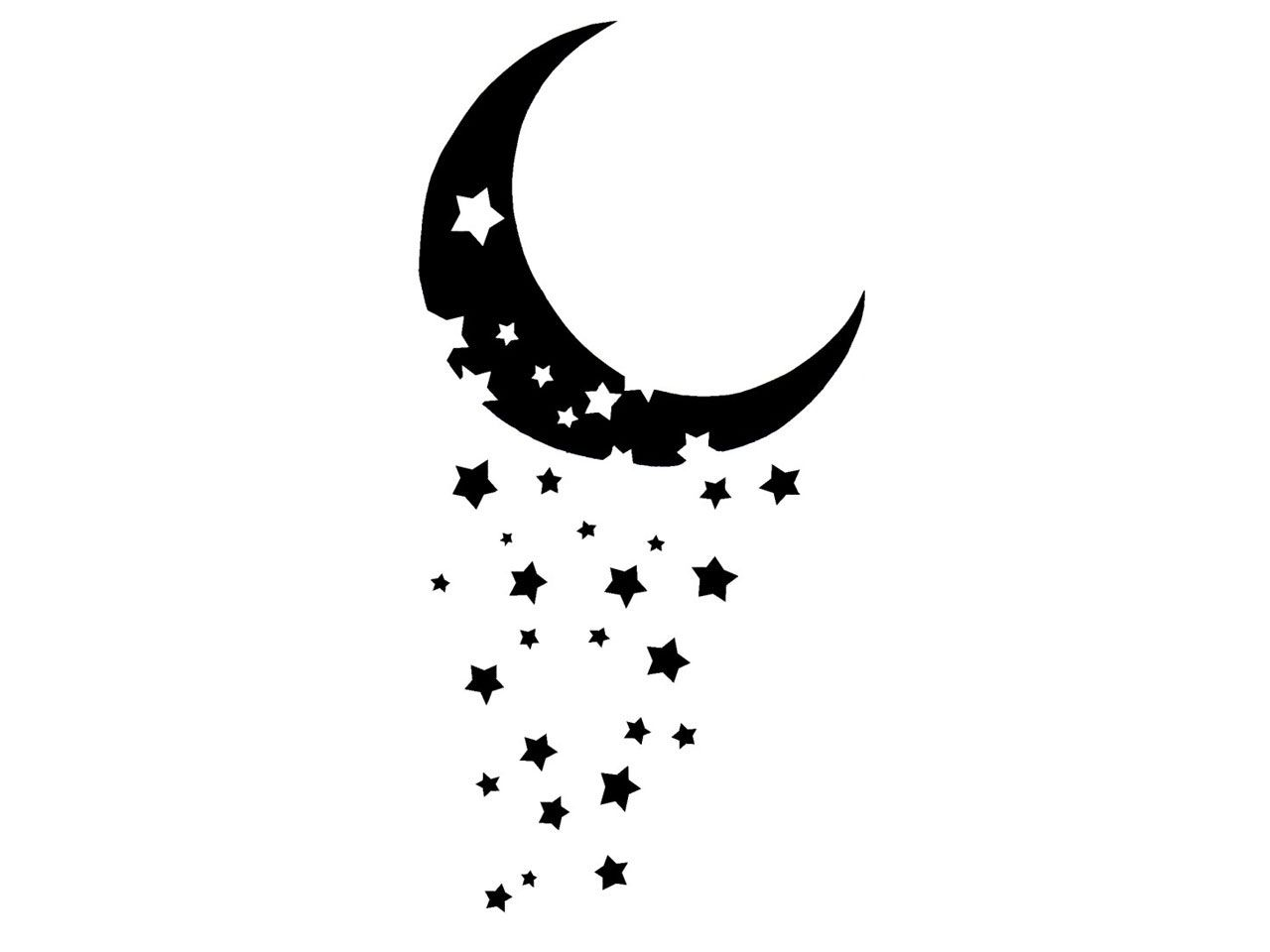 Moon And Stars Tattoos Designs