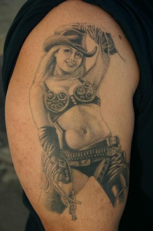 Rockabilly Pin Up Girl Tattoo 2