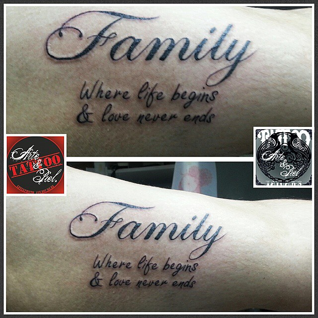 upside down family forever ambigram more art ambigrams families tattoo 2