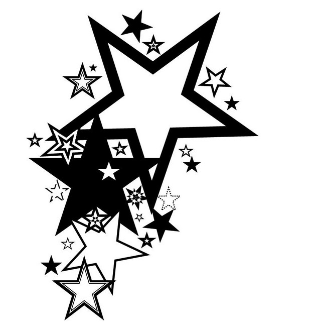 3d nautical stars and music note tattoos photo - 1
