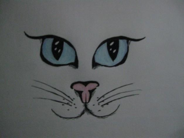 A Cat Face Tattoo Design photo - 1