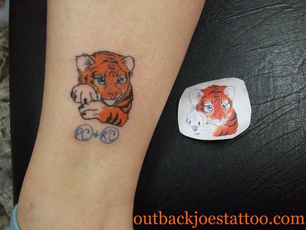 A Cute Tiger Tattoo photo - 1